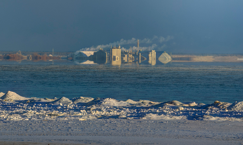 LaFarge plant in surreal light