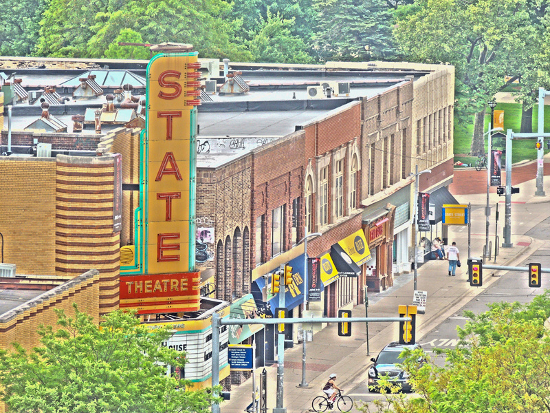 State theater in downtown Ann Arbor Michigan